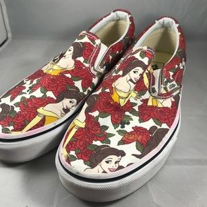 Vans. Size 8.5 Princess Belle with roses